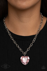 Paparazzi Flirtatiously Flashy Pink Necklace