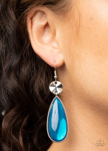 Paparazzi Jaw Dropping Drama Blue Earrings