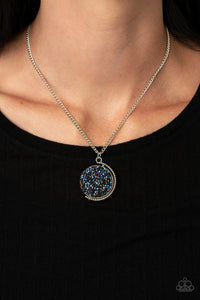 Paparazzi My Moon and Stars Blue Necklace