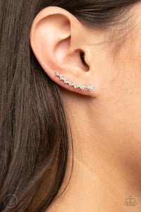 Paparazzi New Age Nebula - White Earrings