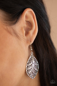 Paparazzi One VINE Day Silver Earrings