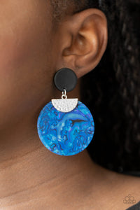 Paparazzi Really Retro-politan - Blue Earrings