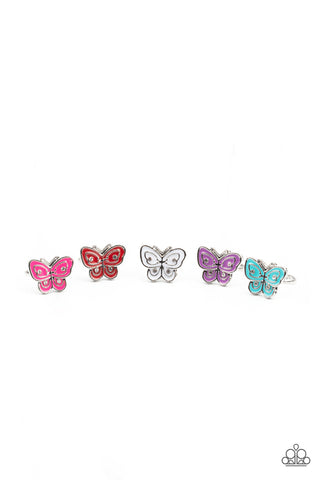 Paparazzi Starlet Shimmer $5 Set of Butterfly Rings