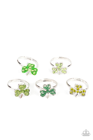 Paparazzi $5 Set of Starlet Shimmer St. Patrick's Day Rings