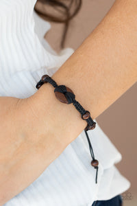 Paparazzi The Road KNOT Taken Black Bracelet