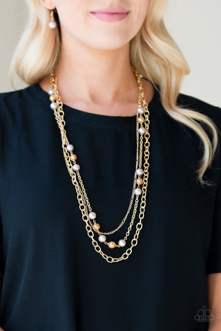 Paparazzi Classical Cadence Gold Necklace