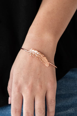 Paparazzi How Do You Like This FEATHER? - Copper Cuff Bracelet