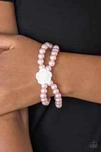 Paparazzi Posh and Posy Pink Stretchy Bracelet