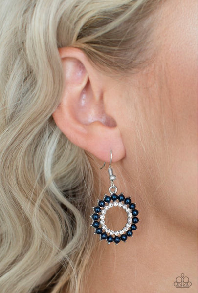 Paparazzi Wreathed In Radiance - Blue Earrings
