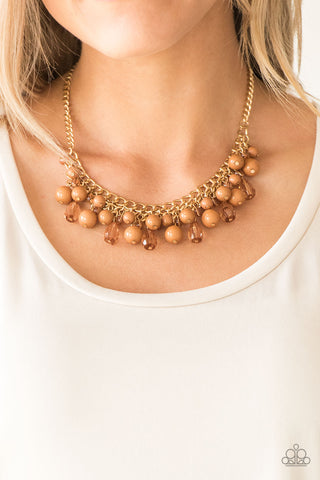 Paparazzi Tour de Trendsetter Brown Necklace