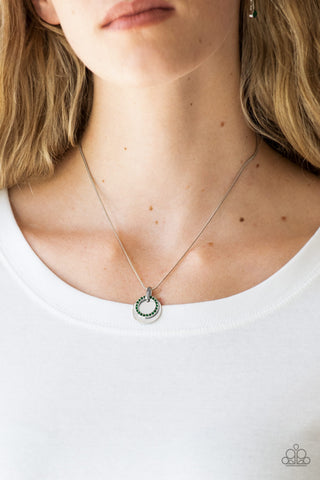 COMING SOON - Paparazzi Front and CENTERED - Green Necklace