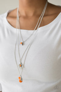 Paparazzi Soar With The Eagles - Orange Necklace