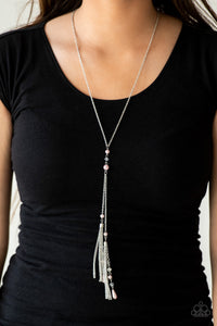 Paparazzi Timeless Tassels - Pink Necklace