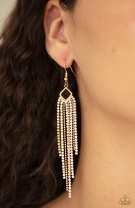 Paparazzi Singing in the REIGN - Gold Earrings