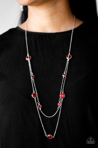 Paparazzi Raise Your Glass Red Necklace