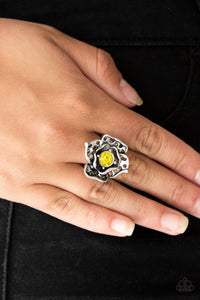 COMING SOON - Paparazzi Glowing Gardens - Yellow Ring