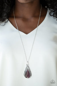 Paparazzi Enchanted Eden - Purple Necklace