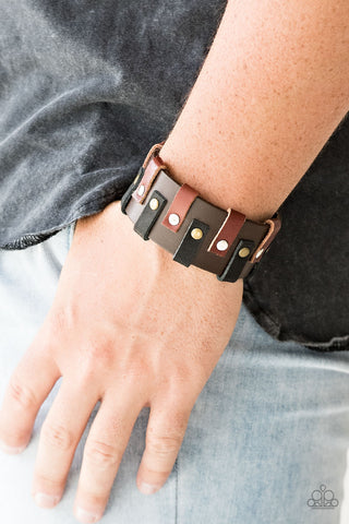 Paparazzi Modern Musketeer - Brown Urban Bracelet