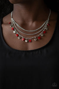 Paparazzi Beach Flavor - Red Necklace