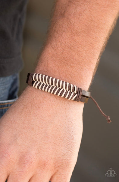 Paparazzi Mountain Expedition - Brown Leather Bracelet