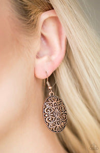 Paparazzi Wistfully Whimsical - Copper Earrings