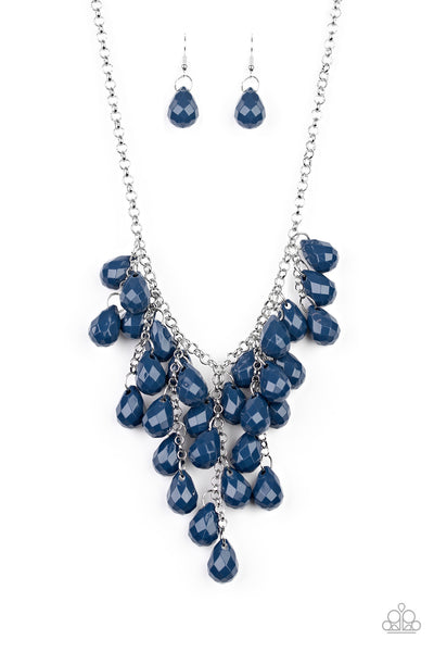Paparazzi Serenely Scattered - Blue Necklace