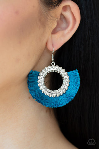 Paparazzi Fringe Fanatic - Blue Earrings