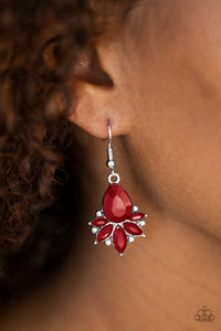 Paparazzi GLAM Up! - Red Earrings