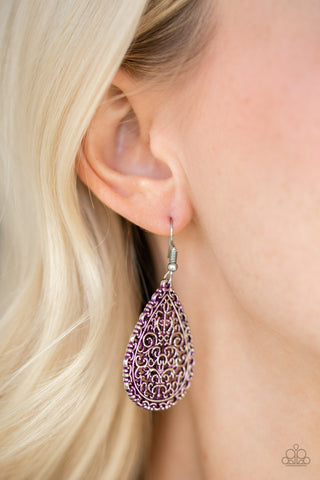 Paparazzi Indie Idol Purple Earrings