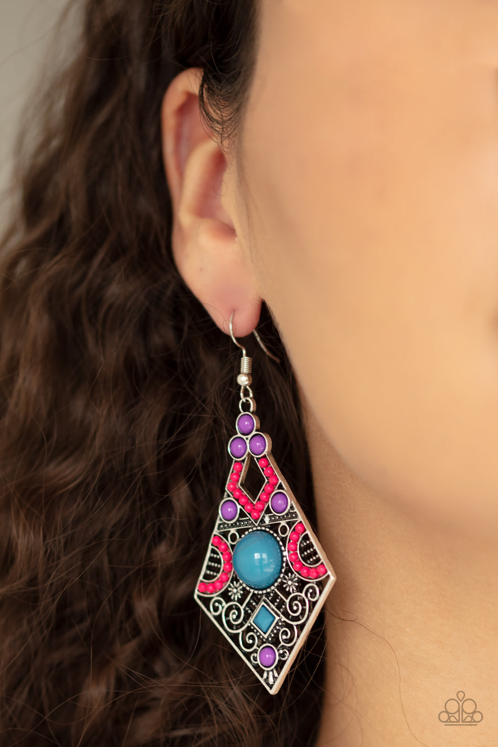 Paparazzi Malibu Meadows Multi Earrings