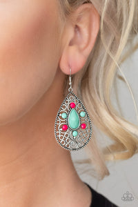 Paparazzi Modern Garden - Multi Earrings