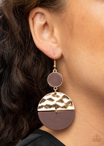 Paparazzi Natural Element Gold Earrings