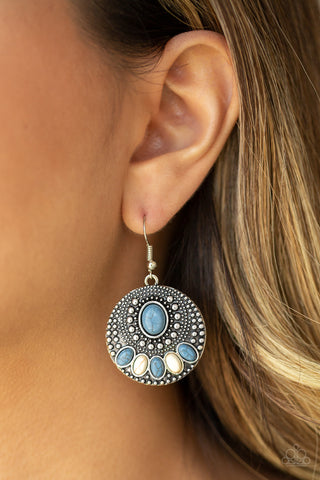 Paparazzi Sandstone Paradise - Blue Earrings