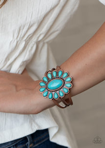 Paparazzi Sedona Spring Copper and Turquoise Bracelet