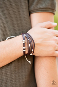 Paparazzi Solo Quest Brown Urban Bracelet