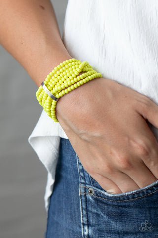 Paparazzi Thank Me LAYER - Yellow Bracelet