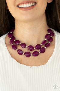 Paparazzi Two-Story Stunner Purple Necklace