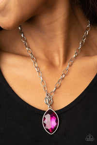 Paparazzi Unlimited Sparkle - Pink Toggle Necklace