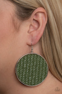 Paparazzi Wonderfully Woven Green Earrings