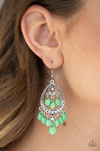 Paparazzi Gorgeously Genie - Green Earrings