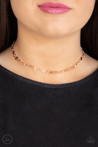 Paparazzi Inner SPOTLIGHT - Rose Gold Necklace