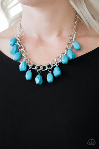 COMING SOON - Paparazzi Take The COLOR Wheel! - Blue Necklace