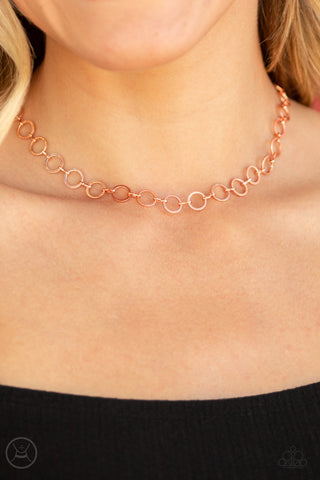 Paparazzi Roundabout Radiance - Copper Necklace