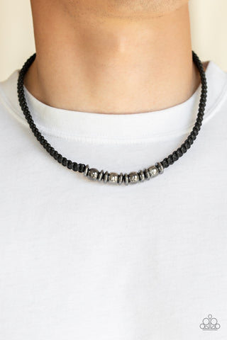Paparazzi Metal Mechanics Black Urban Necklace
