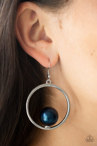 Paparazzi Solitaire REFINEMENT - Blue Earrings