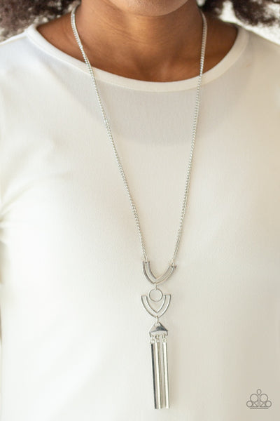 Paparazzi Confidently Cleopatra - Silver Necklace