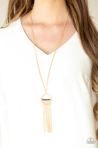 Paparazzi Terra Tassel - Gold Necklace