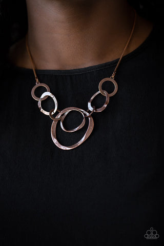 Paparazzi Progressively Vogue - Copper Necklace