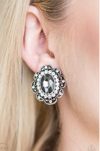Paparazzi Dine and Dapper - Silver Clip On Earrings