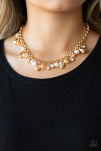 Paparazzi Downstage Dazzle - Gold Necklace